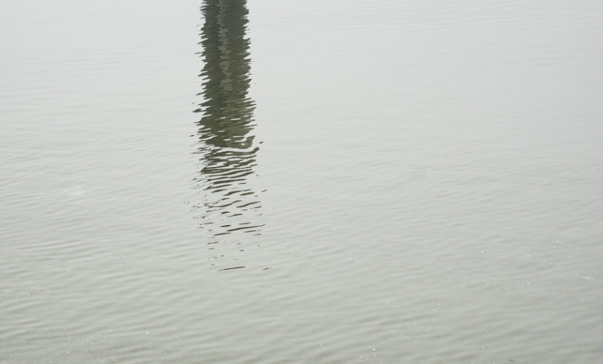 Ocean Reflection of single piling
